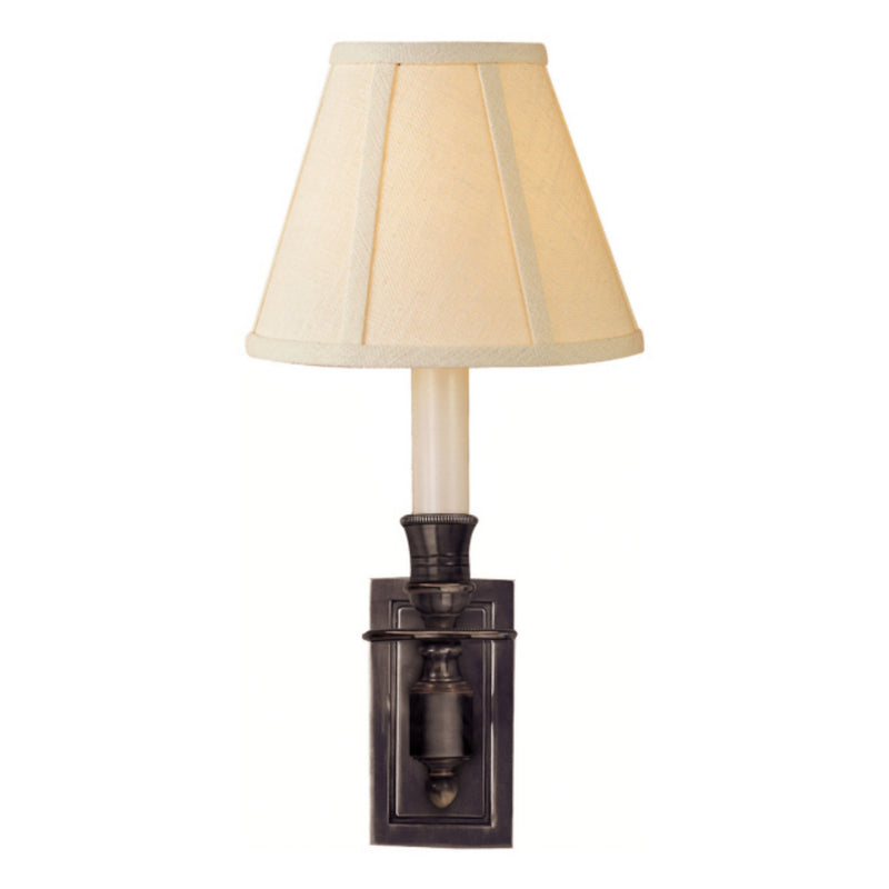 Visual Comfort S 2210BZ-L Studio VC French Single Library Sconce in Bronze