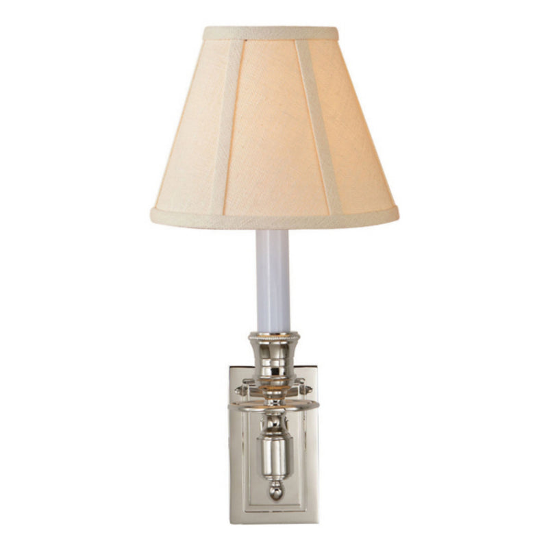 Visual Comfort S 2210PN-L Studio VC French Single Library Sconce in Polished Nickel