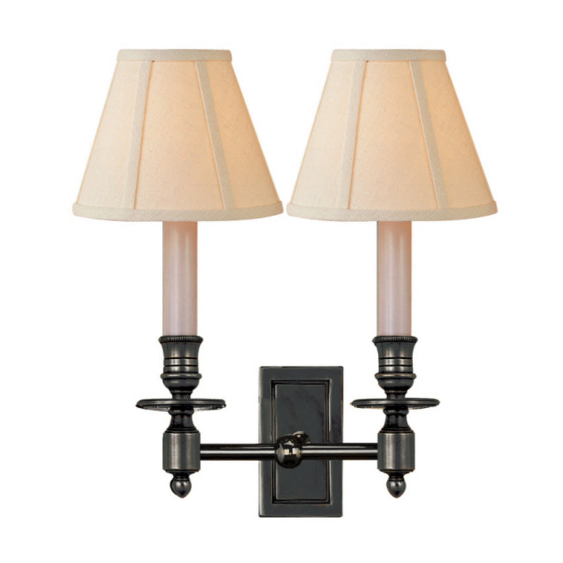 Visual Comfort S 2212BZ-L Studio VC French Double Library Sconce in Bronze
