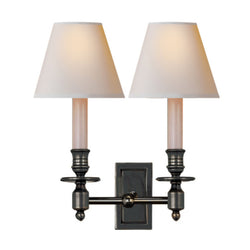 Visual Comfort S 2212BZ-NP Studio VC French Double Library Sconce in Bronze