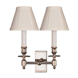Visual Comfort S 2212PN-T Studio VC French Double Library Sconce in Polished Nickel