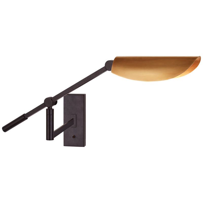 Visual Comfort S 2261AI-HAB Ian K. Fowler Lola Boom Arm Wall Light in Aged Iron