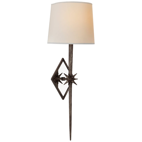 Visual Comfort S 2321AI-NP Ian K. Fowler Etoile Large Tail Sconce in Aged Iron