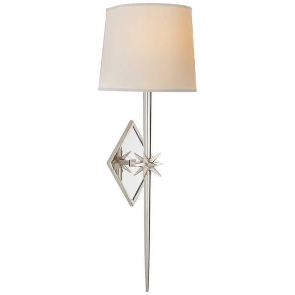 Visual Comfort S 2321PN-NP Ian K. Fowler Etoile Large Tail Sconce in Polished Nickel