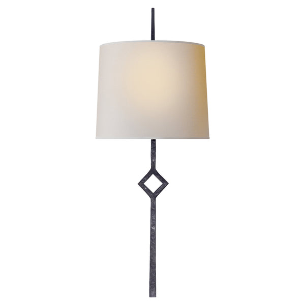 Visual Comfort S 2406AI-NP Studio VC Cranston Small Sconce in Aged Iron