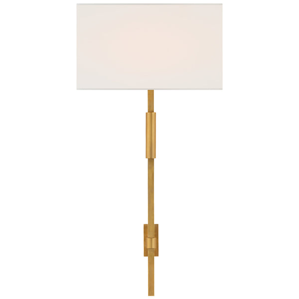 Visual Comfort S 2436HAB-L Ian K. Fowler Auray Large Tail Sconce in Hand-Rubbed Antique Brass