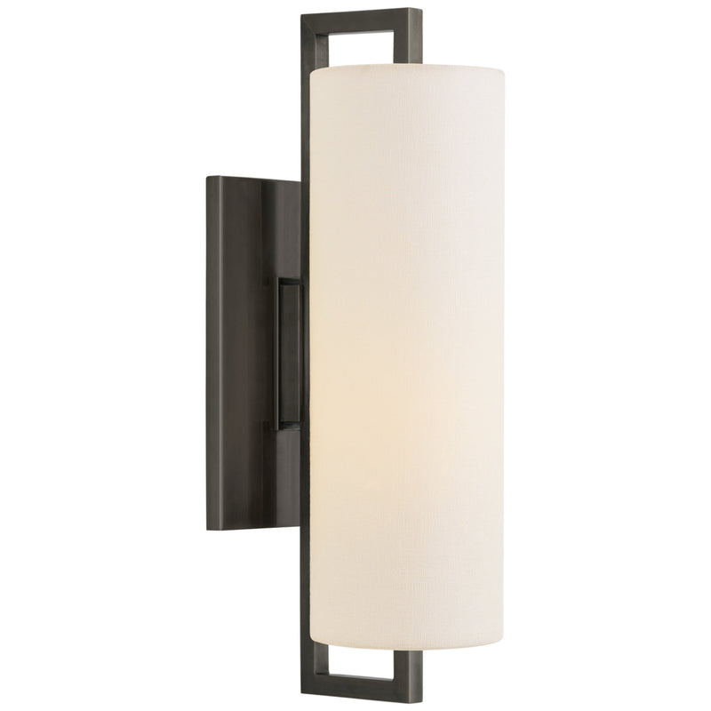 Visual Comfort S 2520BZ-L Ian K. Fowler Modern Bowen Medium Sconce in Bronze