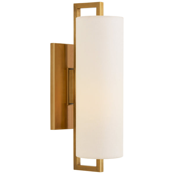 Visual Comfort S 2520HAB-L Ian K. Fowler Bowen Medium Sconce in Hand-Rubbed Antique Brass