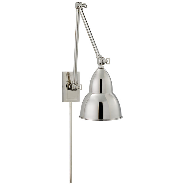 Visual Comfort S 2602PN Studio VC French Library Double Arm Wall Lamp in Polished Nickel