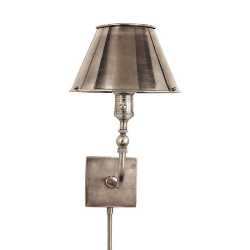 Visual Comfort S 2650AN-AN Studio VC Swivel Head Wall Lamp in Antique Nickel