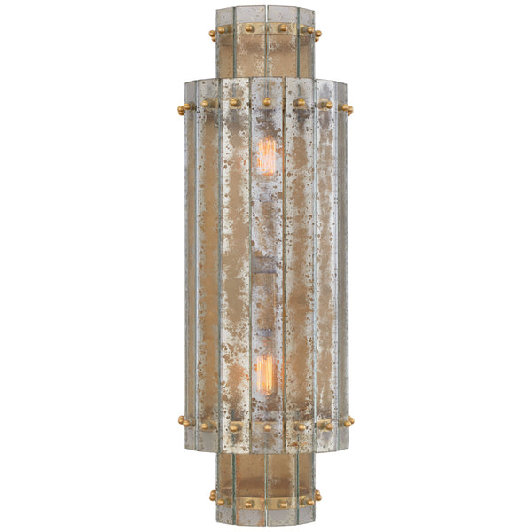 Visual Comfort S 2651HAB-AM Carrier and Company Cadence Large Tiered Sconce in Hand-Rubbed Antique Brass