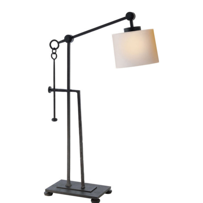 Visual Comfort S 3030BR-NP Ian K. Fowler Aspen Forged Iron Table Lamp in Blackened Rust