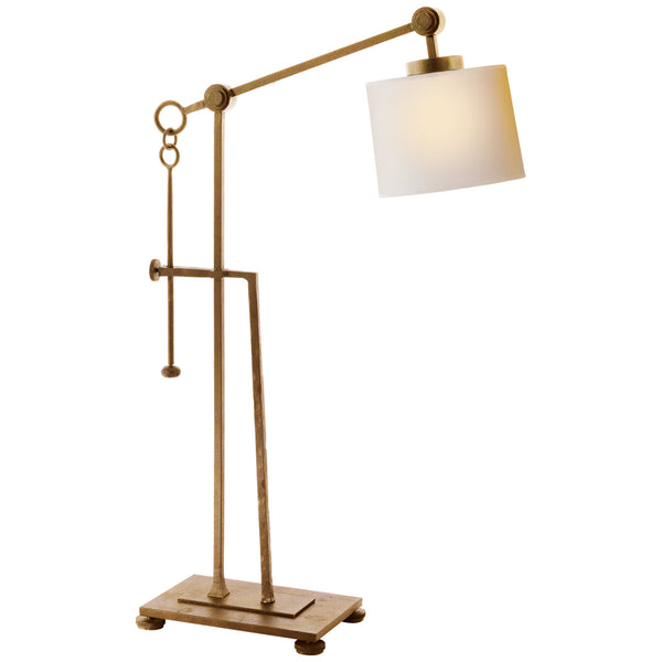 Visual Comfort S 3030GI-NP Ian K. Fowler Aspen Forged Iron Table Lamp in Gilded Iron