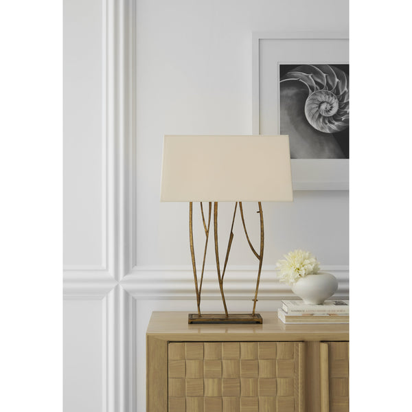 Visual Comfort S 3051GI-NP Ian K. Fowler Aspen Console Lamp in Gilded Iron
