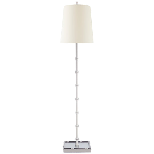 Visual Comfort S 3177PN-PL Studio VC Modern Grenol Buffet Lamp in Polished Nickel with Natural Percale Shade