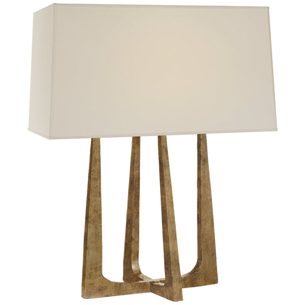 Visual Comfort S 3514GI-PL Ian K. Fowler Scala Hand-Forged Bedside Lamp in Gilded Iron