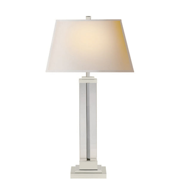 Visual Comfort S 3701PN-NP Studio VC Wright Table Lamp in Polished Nickel
