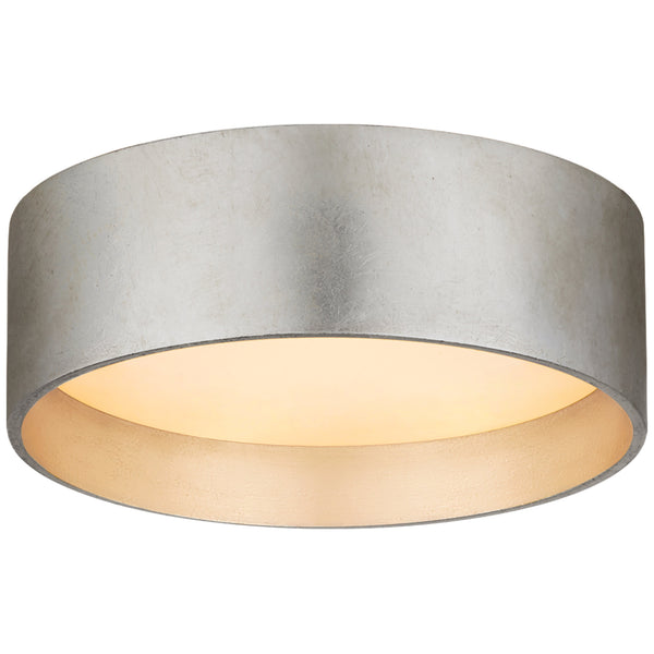 "Visual Comfort S 4040BSL Studio VC Shaw 5"" Solitaire Flush Mount in Burnished Silver Leaf"