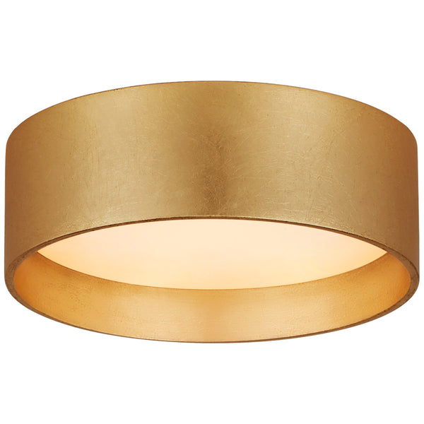 "Visual Comfort S 4040G Studio VC Modern Shaw 5"" Solitaire Flush Mount in Gild with White Glass"