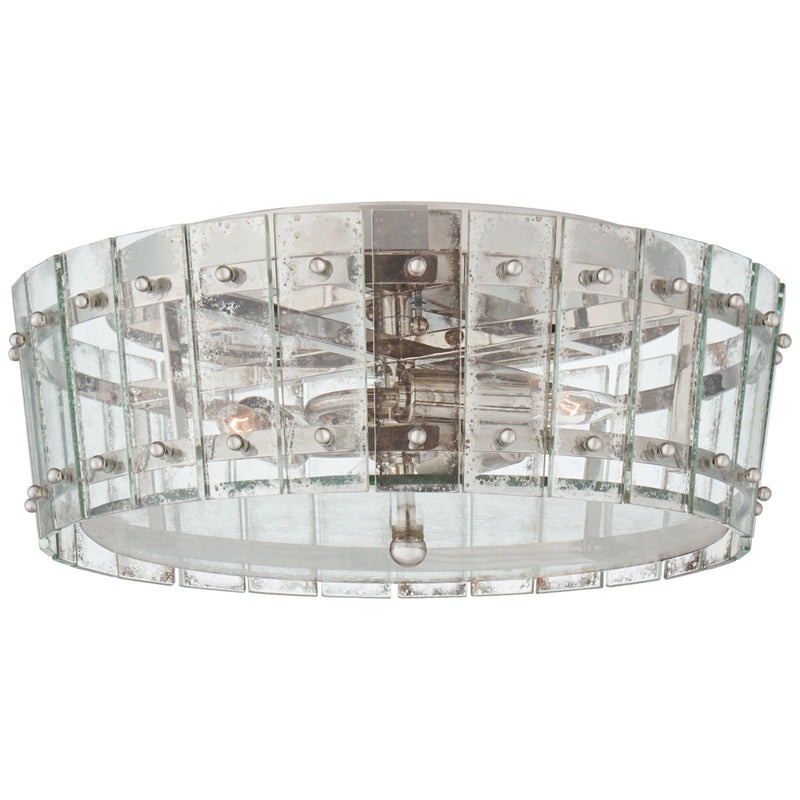 Visual Comfort S 4651PN-AM Carrier and Company Cadence Medium Single-Tier Flush Mount in Polished Nickel