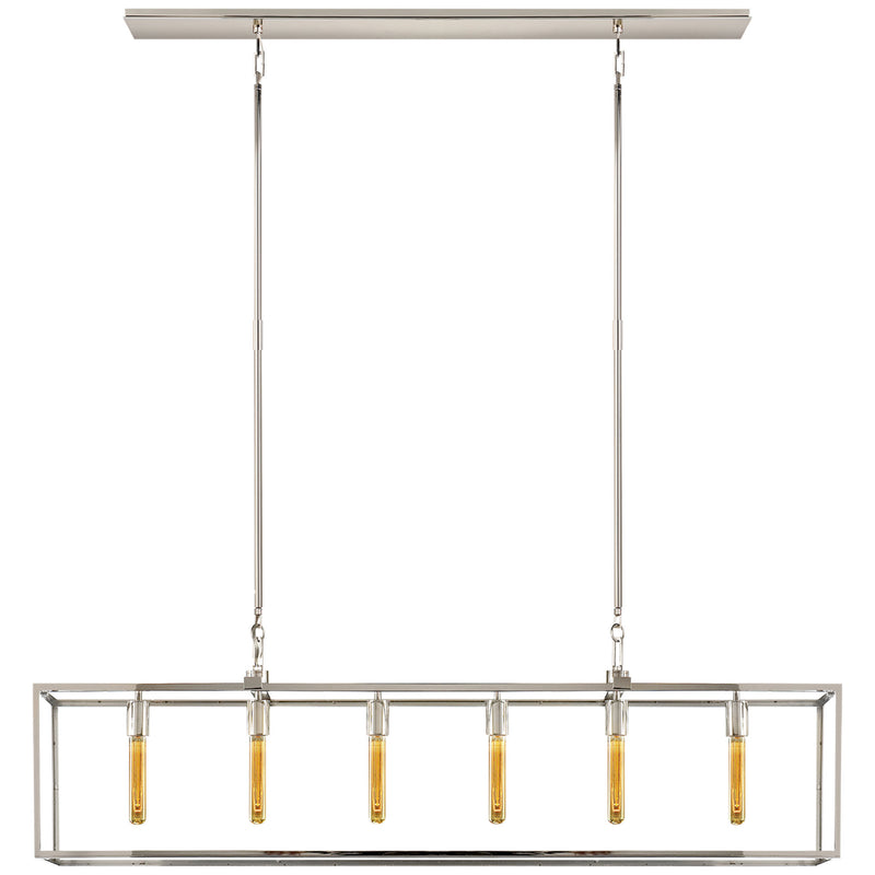 Visual Comfort S 5015PN Ian K. Fowler Belden Linear Lantern in Polished Nickel