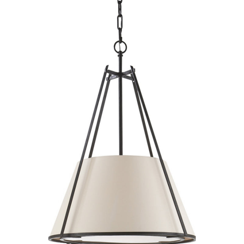 Visual Comfort S 5033BR-NP Ian K. Fowler Aspen Large Conical Hanging Shade in Blackened Rust