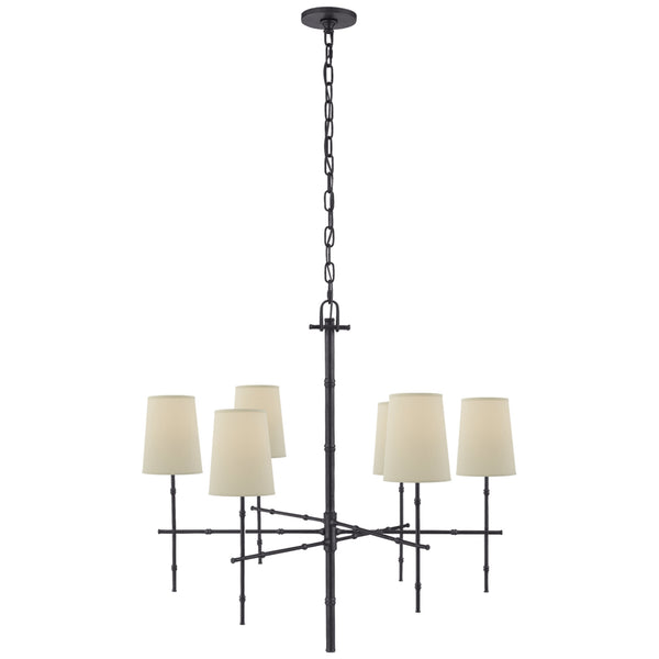 Visual Comfort S 5161BZ-PL Studio VC Grenol Medium Modern Bamboo Chandelier in Bronze