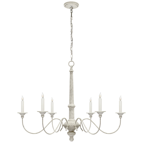 Visual Comfort S 5211BW Studio VC Casual Country Small Chandelier in Belgian White