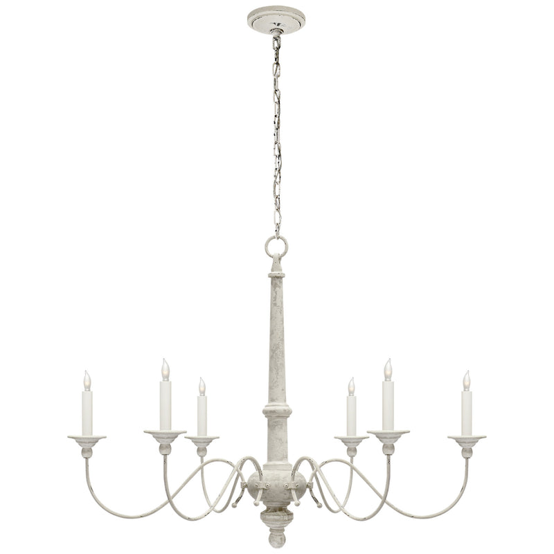 Visual Comfort S 5211BW Studio VC Country Small Chandelier in Belgian White