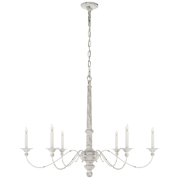 Visual Comfort S 5212BW Studio VC Country Large Chandelier in Belgian White