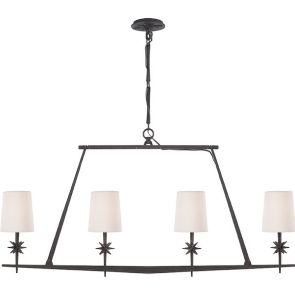 Visual Comfort S 5316BR-NP Ian K. Fowler Etoile Linear Chandelier in Blackened Rust
