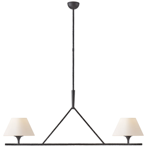 Visual Comfort S 5405AI-L Ian K. Fowler Cesta Large Linear Chandelier in Aged Iron