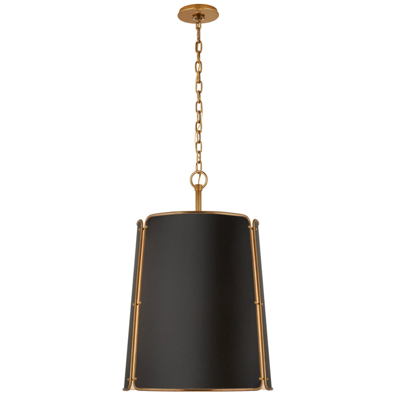 Visual Comfort S 5646HAB-BLK Carrier and Company Hastings Large Pendant in Hand-Rubbed Antique Brass