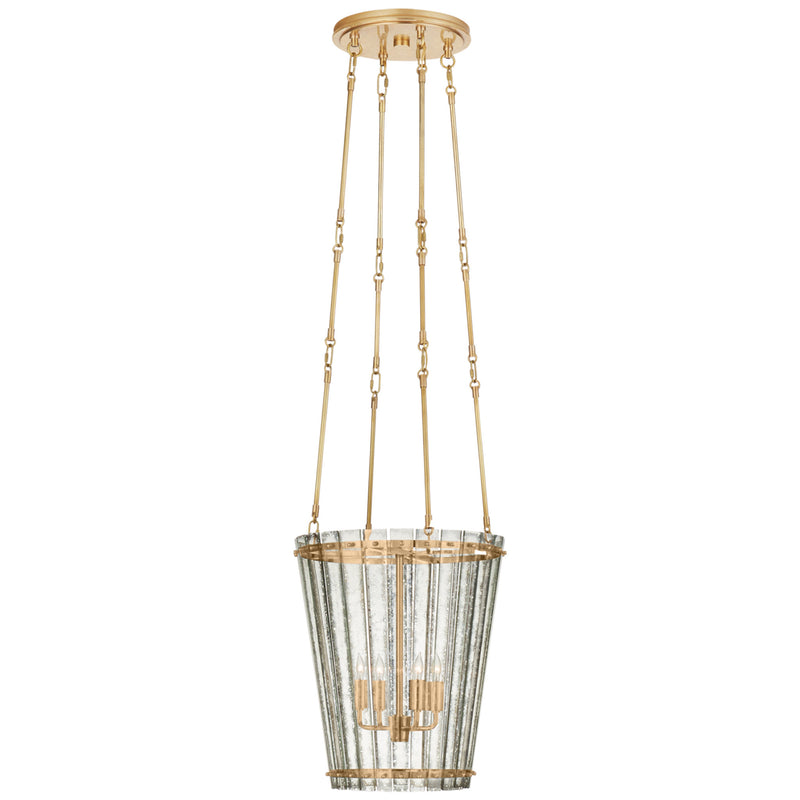 Visual Comfort S 5652HAB-AM Carrier and Company Cadence Small Tall Chandelier in Hand-Rubbed Antique Brass