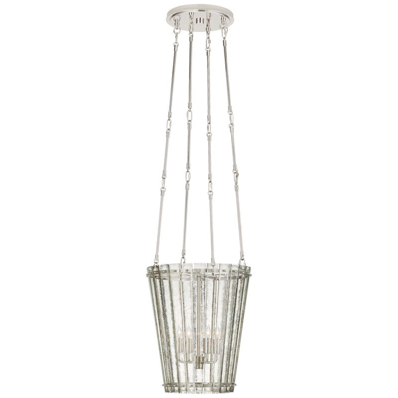 Visual Comfort S 5652PN-AM Carrier and Company Cadence Small Tall Chandelier in Polished Nickel