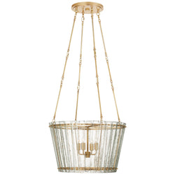 Visual Comfort S 5653HAB-AM Carrier and Company Cadence Medium Chandelier in Hand-Rubbed Antique Brass