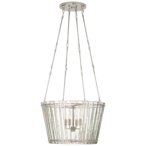 Visual Comfort S 5653PN-AM Carrier and Company Cadence Medium Chandelier in Polished Nickel