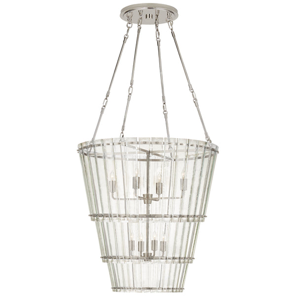 Visual Comfort S 5656PN-AM Carrier and Company Cadence Medium Waterfall Chandelier in Polished Nickel