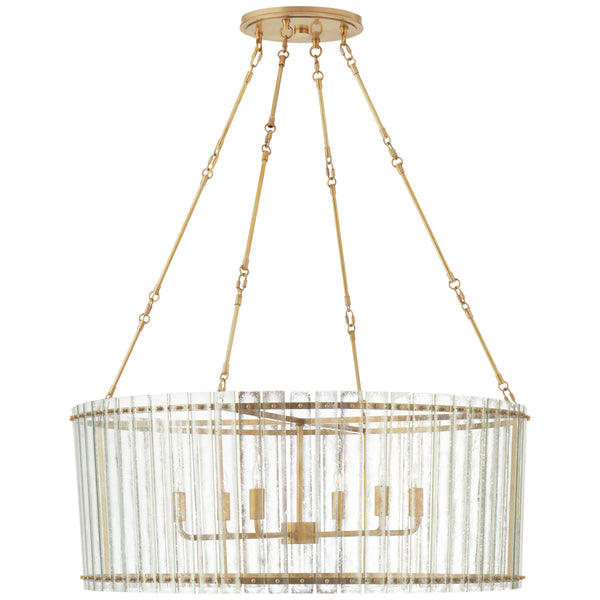Visual Comfort S 5670HAB-AM Carrier and Company Cadence Large Chandelier in Hand-Rubbed Antique Brass