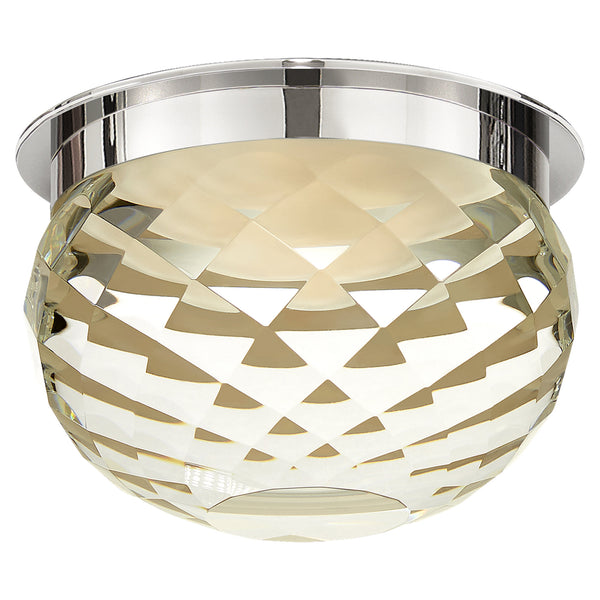 "Visual Comfort S 7000PN-CG Studio VC Hillam 5.5"" Solitaire Flush Mount in Polished Nickel"