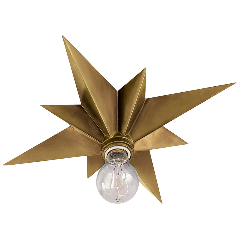Visual Comfort SC 4000HAB Eric Cohler Star Flush Mount in Hand-Rubbed Antique Brass