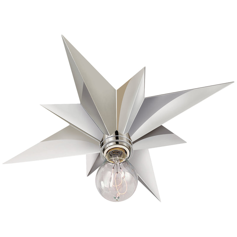 Visual Comfort SC 4000PN Eric Cohler Star Flush Mount in Polished Nickel