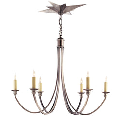 Visual Comfort SC 5001AS Eric Cohler Venetian Medium Chandelier in Antique Silver