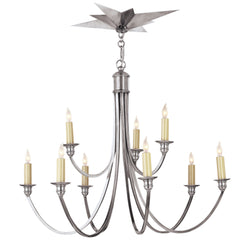 Visual Comfort SC 5002AS Eric Cohler Venetian Medium Two-Tier in Antique Silver