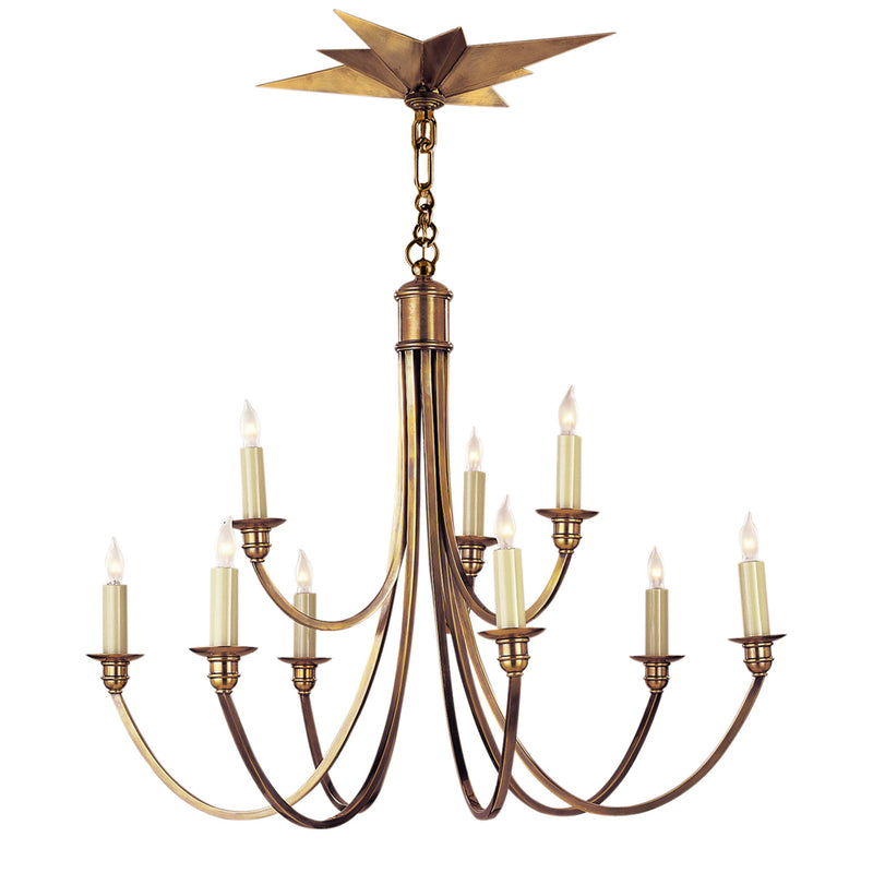 Visual Comfort SC 5002HAB Eric Cohler Venetian Medium Two-Tier in Hand-Rubbed Antique Brass