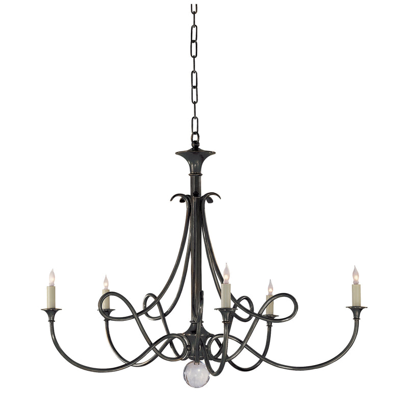 Visual Comfort SC 5005BZ Eric Cohler Double Twist Large Chandelier in Bronze