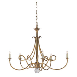 Visual Comfort SC 5005HAB Eric Cohler Double Twist Large Chandelier in Hand-Rubbed Antique Brass