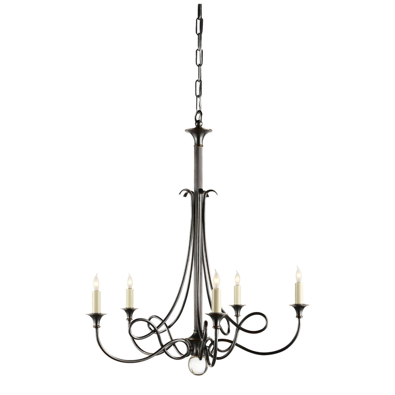 Visual Comfort SC 5015BZ Eric Cohler Twist Chandelier in Bronze