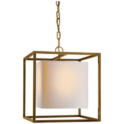 Visual Comfort SC 5159HAB Eric Cohler Caged Small Lantern in Hand-Rubbed Antique Brass