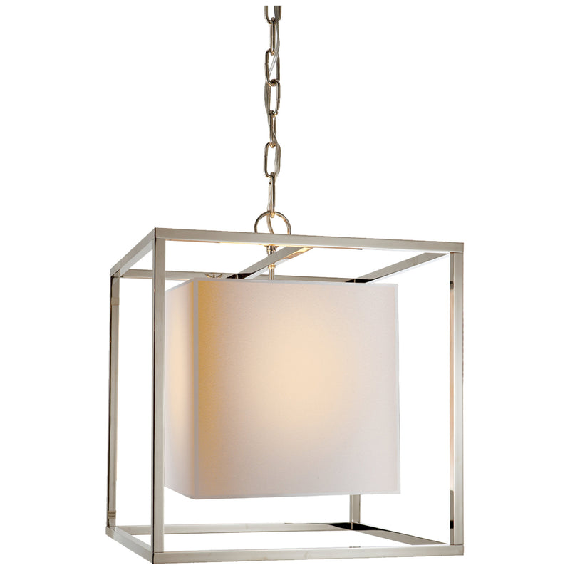 Visual Comfort SC 5159PN Eric Cohler Caged Small Lantern in Polished Nickel